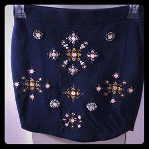 Winter wonderland fleece lined skirt
